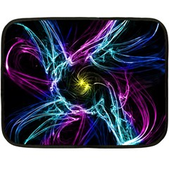 Abstract Art Color Design Lines Double Sided Fleece Blanket (Mini)