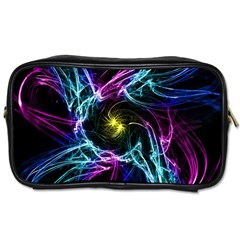 Abstract Art Color Design Lines Toiletries Bags 2 Side