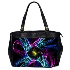 Abstract Art Color Design Lines Office Handbags (2 Sides)