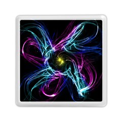 Abstract Art Color Design Lines Memory Card Reader (square)