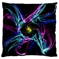 Abstract Art Color Design Lines Large Cushion Case (one Side)