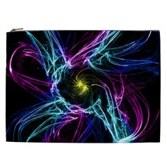 Abstract Art Color Design Lines Cosmetic Bag (XXL)