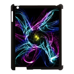Abstract Art Color Design Lines Apple Ipad 3/4 Case (black)