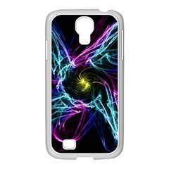 Abstract Art Color Design Lines Samsung Galaxy S4 I9500/ I9505 Case (white)