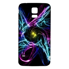 Abstract Art Color Design Lines Samsung Galaxy S5 Back Case (White)
