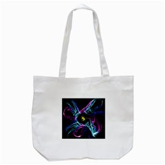 Abstract Art Color Design Lines Tote Bag (white)