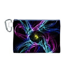 Abstract Art Color Design Lines Canvas Cosmetic Bag (m)