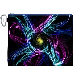 Abstract Art Color Design Lines Canvas Cosmetic Bag (xxxl)