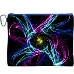 Abstract Art Color Design Lines Canvas Cosmetic Bag (XXXL) Front