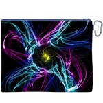 Abstract Art Color Design Lines Canvas Cosmetic Bag (XXXL) Back