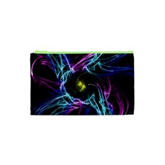 Abstract Art Color Design Lines Cosmetic Bag (xs)
