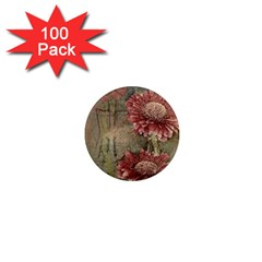 Flowers Plant Red Drawing Art 1  Mini Magnets (100 pack)