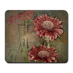 Flowers Plant Red Drawing Art Large Mousepads