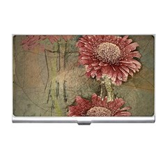 Flowers Plant Red Drawing Art Business Card Holders
