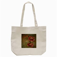 Flowers Plant Red Drawing Art Tote Bag (cream)