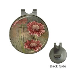 Flowers Plant Red Drawing Art Hat Clips with Golf Markers
