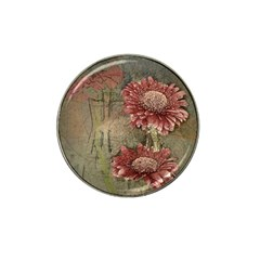 Flowers Plant Red Drawing Art Hat Clip Ball Marker