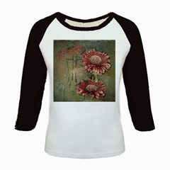 Flowers Plant Red Drawing Art Kids Baseball Jerseys