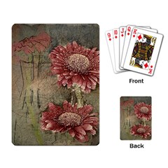 Flowers Plant Red Drawing Art Playing Card
