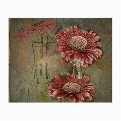 Flowers Plant Red Drawing Art Small Glasses Cloth (2 Side)