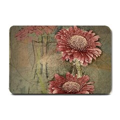 Flowers Plant Red Drawing Art Small Doormat