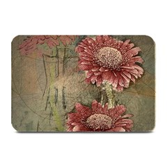 Flowers Plant Red Drawing Art Plate Mats