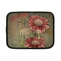 Flowers Plant Red Drawing Art Netbook Case (small)