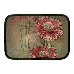 Flowers Plant Red Drawing Art Netbook Case (medium)