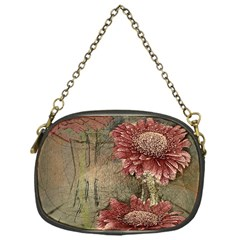 Flowers Plant Red Drawing Art Chain Purses (one Side)