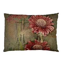 Flowers Plant Red Drawing Art Pillow Case