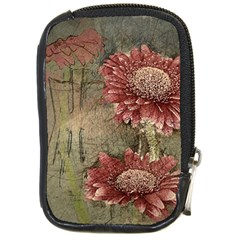Flowers Plant Red Drawing Art Compact Camera Cases