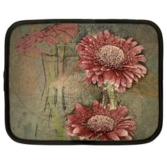Flowers Plant Red Drawing Art Netbook Case (XXL)