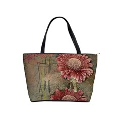 Flowers Plant Red Drawing Art Shoulder Handbags