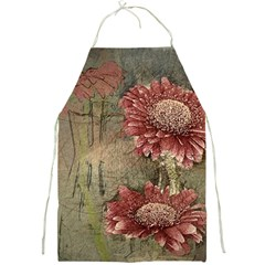 Flowers Plant Red Drawing Art Full Print Aprons
