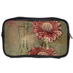 Flowers Plant Red Drawing Art Toiletries Bags 2 Side