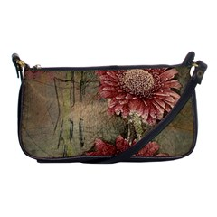 Flowers Plant Red Drawing Art Shoulder Clutch Bags