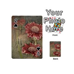 Flowers Plant Red Drawing Art Playing Cards 54 (mini)