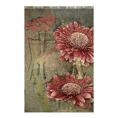 Flowers Plant Red Drawing Art Shower Curtain 48  x 72  (Small)