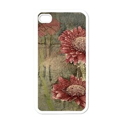 Flowers Plant Red Drawing Art Apple Iphone 4 Case (white)