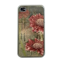 Flowers Plant Red Drawing Art Apple Iphone 4 Case (clear)