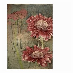 Flowers Plant Red Drawing Art Small Garden Flag (two Sides)