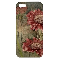 Flowers Plant Red Drawing Art Apple iPhone 5 Hardshell Case