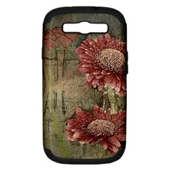Flowers Plant Red Drawing Art Samsung Galaxy S Iii Hardshell Case (pc+silicone)