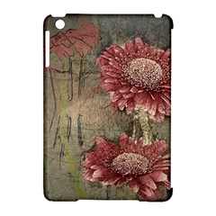 Flowers Plant Red Drawing Art Apple Ipad Mini Hardshell Case (compatible With Smart Cover)
