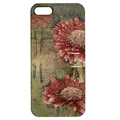 Flowers Plant Red Drawing Art Apple Iphone 5 Hardshell Case With Stand