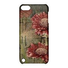 Flowers Plant Red Drawing Art Apple iPod Touch 5 Hardshell Case with Stand