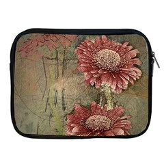 Flowers Plant Red Drawing Art Apple Ipad 2/3/4 Zipper Cases