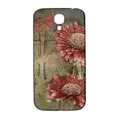 Flowers Plant Red Drawing Art Samsung Galaxy S4 I9500/i9505  Hardshell Back Case