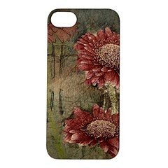 Flowers Plant Red Drawing Art Apple iPhone 5S/ SE Hardshell Case