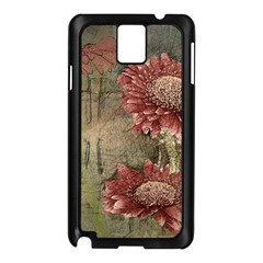 Flowers Plant Red Drawing Art Samsung Galaxy Note 3 N9005 Case (black)